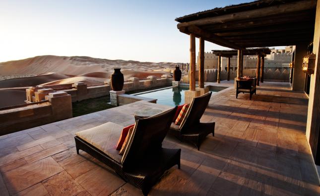 Un hotel de lujo en pleno desierto